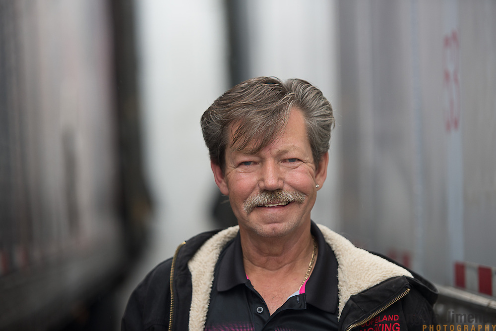 Truck driver Driver Bill McMahon, who was recently rehired by his former employer Copeland Trucking prepares to depart soon in a brand new $145,000 rig from the company's location in Fridley, Minnesota on October 2, 2014. <br /> <br /> [ Angela Jimenez/Special to the Star-Tribune  angelajime@gmail.com Assignment #20036493A_ SLUG: TRUCK100514_ EXTRA INFORMATION: Minnesota's severe trucker shortage is forcing wages up and creating accommodating working conditions for drivers. That means shorter trips and less time away from family. In Bill McMahon's case, he and Copeland co-owner Tim Hoag struck a deal: McMahon will get to haul a load to his home in California at least once a month, an exception the company made due to the driver shortage.