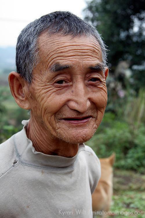 Asia, China, Yichang. Rural Farmer.