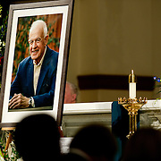 A portrait of former House Speaker Thomas Foley displayed during the memorial service for him Nov. 1, 2013 at St. Aloysius Church in Spokane, Wash. (Photo courtesy Gonzaga University.)