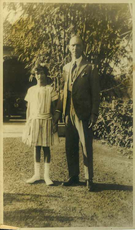 R. L. Spittel with his daughter Christine.