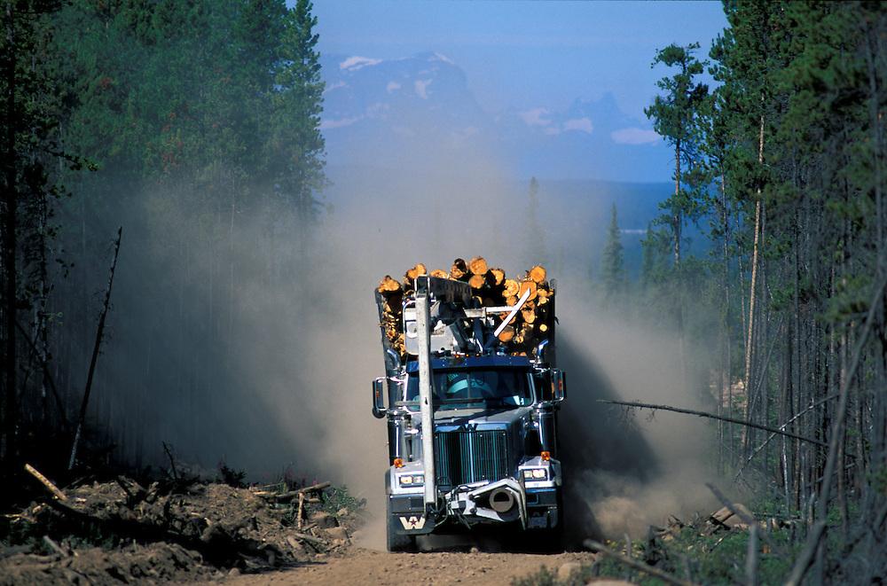 Logging Truck,.Chilcotin Country,.British Columbia, Canada