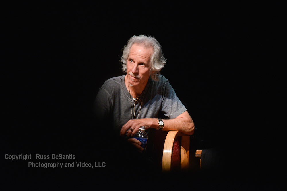 John Densmore drummer for the legendary rock group, The Doors, appeared at Bergen Community College on Tuesday, March 11, 2014. He talked about his book, The Doors: Unhinged, jammed with professors and signed autographs./Photos by Russ DeSantis Photography and Video, LLC