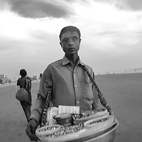 An entrepreneur on the beaches of Bangladesh. <br />