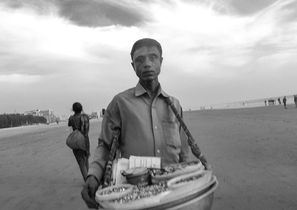 An entrepreneur on the beaches of Bangladesh. <br /> <br /> This image was taken by a female photographer who participated in training from one of programs.