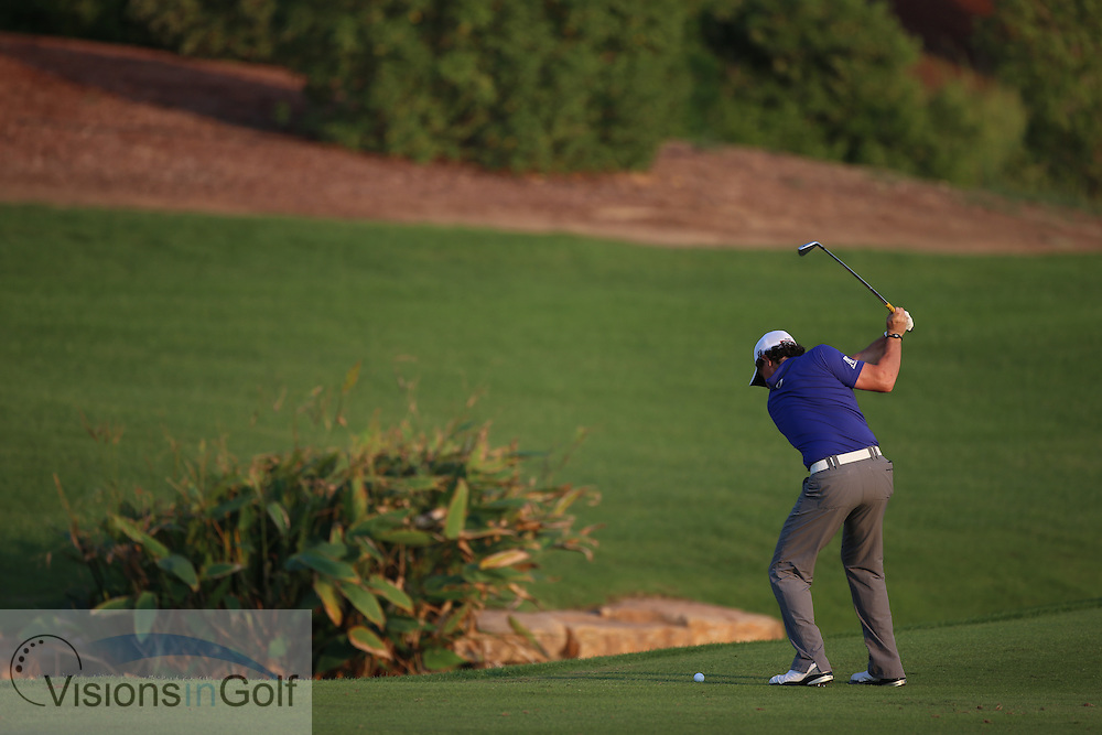 Rory McIlroy<br /> at the DP World Tour Championship, Jumeirah Golf Estates Earth, Dubai UAE 2012<br /> Picture Credit:  Mark Newcombe / www.visionsingolf.com