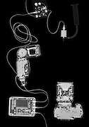 X-ray photography of digital camera and iPod music device