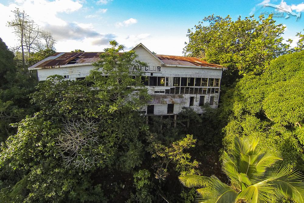 The Vava'u Club, abandoned. Vava'u, Tonga. #quadcopter #aerial