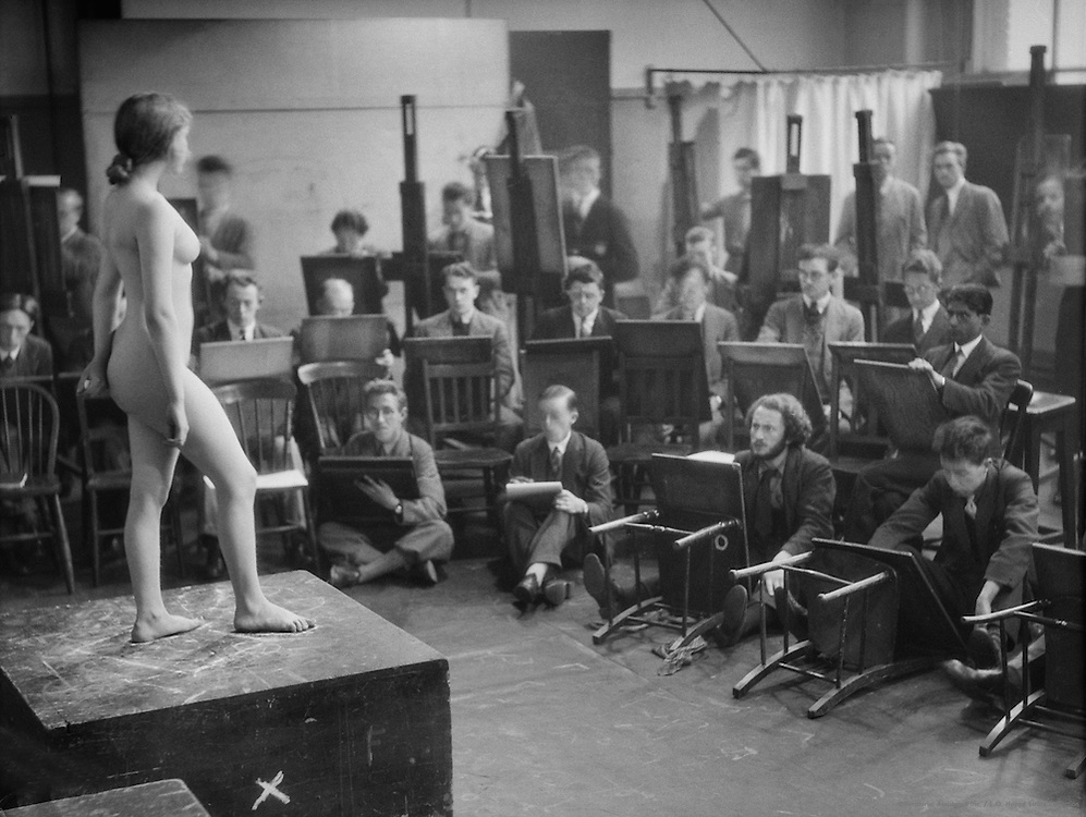 Life Class with Nude Model, Royal College of Art, London, 1931