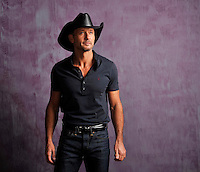 **HOLD FOR STORY**Country singer and actor Tim McGraw poses for a portrait, on Tuesday, Jan. 15, 2013 in Nashville, Tenn. (Photo by Donn Jones/Invision/AP Images)