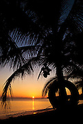 A perfect sunset from the western side of Little Corn Island.