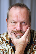 """SAN SEBASTIAN, SPAIN - SEPTEMBER 25:  US director Terry Gilliam poses during a photo session at the Hotel Maria Crsitina to promote """"The Imaginarium of Dr. Parnassus"""" during the 57th San Sebastian Film Festival on September 25, 2009 in San Sebastian, Spain.  (Photo by Markel Redondo/Getty Images)"""