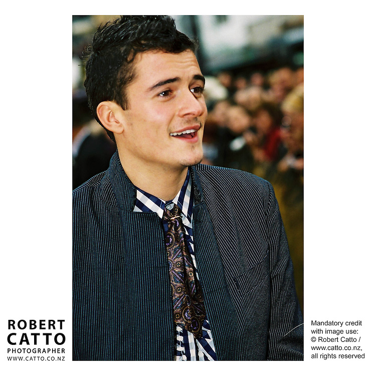 Orlando Bloom at the Lord Of The Rings: Fellowship Of The Ring Premiere at the Embassy Theatre, Wellington, New Zealand.<br />