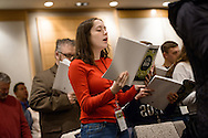 Hannah Minor sings during worship on Friday, Jan. 27, 2017, in Arlington, Va. LCMS Communications/Erik M. Lunsford