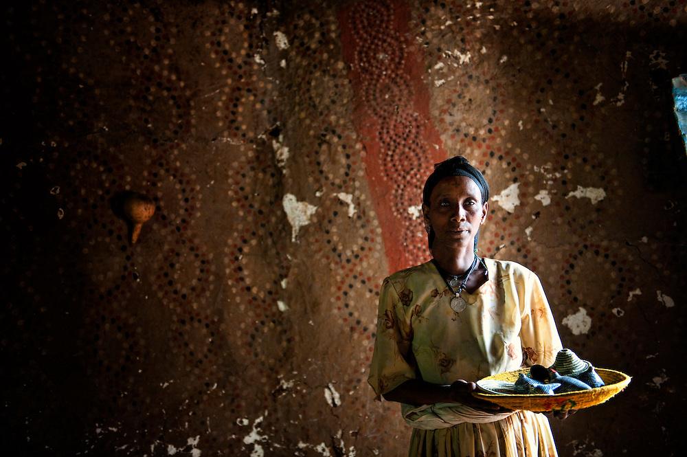Amara, ETH, Ethiopia, Gonder, Gondar, Wolleka, Falasha village, Amara