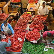 Mauritius. The vegetable market at Port Louis.