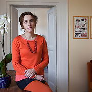 Napoli, Italy, February 5, 2014. Valeria Parrella, Italian writer.