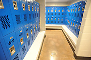 A locker room at the new gym at Oxford High School, in Oxford, Miss. on Thursday, March 27, 2014.