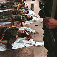 Dead FARC rebels killed in combat with government troops in Grenada.