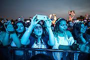 Fan enjoy Zoé performing on day one of Ruido Fest.