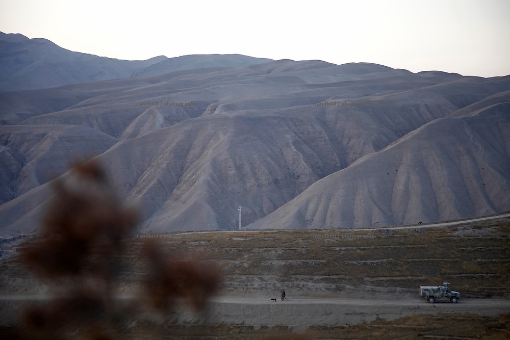 general view to the mountains from german OP North, Northern Afghanistan
