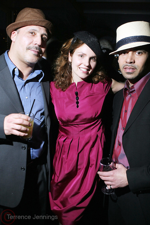 Jennifer Ouellette and Guests(hats) at the Launch of Ouellete Hats for Men held at The Empire Hotel Rooftop on March 12, 2009 in New York City ..Jennifer Ouellette's presence in the fashion world continues to grow. Her designs have appeared in Vogue, W, In Style, Glamour, Domino, Modern Bride and Harper's Bazaar. Her work has been recognized in the fashion pages of the New York Times, seen on the NBC Today show and is frequently featured in the Barneys New York catalogs. Such luminaries as Jessica Simpson, Winona Ryder, Jennifer Lopez, Sarah Jessica Parker, Gwen Stefani, Britney Spears, Hilary Duff, Angelina Jolie and Deborah Messing are often seen wearing her hats and accessories.