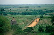 Twelve sided wooden silo built by G.E. Davison in 1915, south east of Arnett, Oklahoma