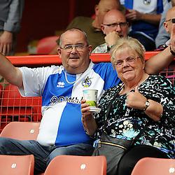 Bristol Rovers fans - Mandatory byline: Neil Brookman/JMP - 07966386802 - 29/08/2015 - FOOTBALL - Matchroom Stadium -Leyton,England - Leyton Orient v Bristol Rovers - Sky Bet League Two