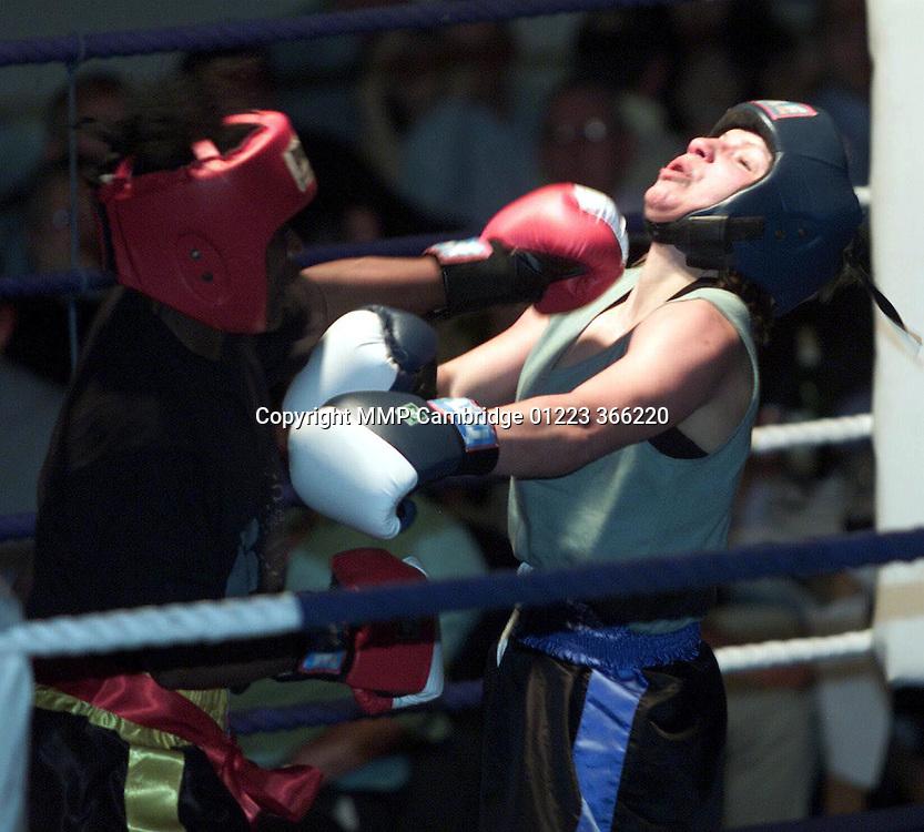 CAMBRIDGE UNIVERSITY STUDENT JESS HUDSON FIGHTING SANDRA WILLIAMS AT THE GUILDHALL IN CAMBRIDGE .