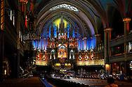 Notre Dame Basilica, Place D'Armes, Montreal, Quebec, Canada