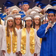 060411 Wilmington DE: Charter School of Wilmington Senior Christopher Grasso opens commencement exercise with the singing of the National Anthem Saturday, June 4, 2011 at The Grand Opera House In Wilmington Delaware.<br /> <br /> Special to The News Journal/SAQUAN STIMPSON