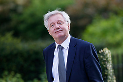 © Licensed to London News Pictures. 19/04/2017. London, UK. Brexit Secretary DAVID DAVIS arrives at Downing Street in London on 14 April 2017, the morning after Prime Minister THERESA MAY announced plans for a snap general election. Photo credit: Tolga Akmen/LNP