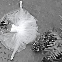 MR. Model relased photo. Ballerina sleeps on the floor with the split position.