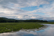 Mamakating, New York - Clouds over the Bashakill Wildlife Management Area on the evening of  June 5, 2015.