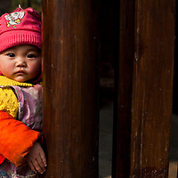 young girl in langzhong, sichuan