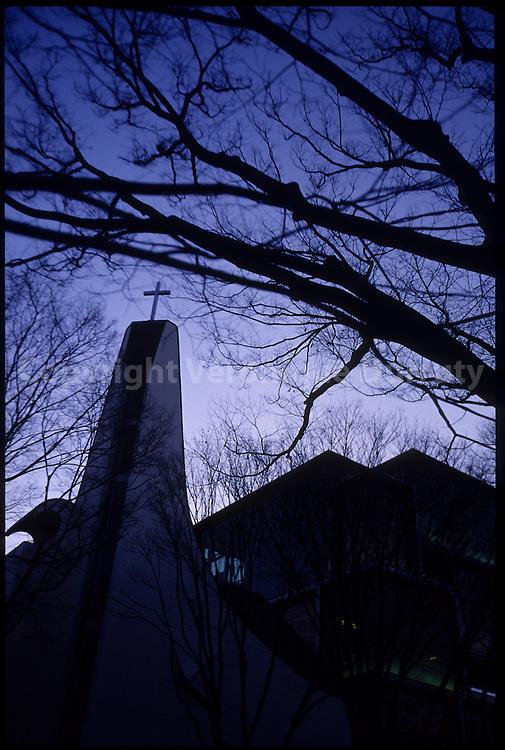 "Church in Omote-Sando avenue, Shibuya, Tokyo, Honshu, Japan / Eglise sur l'avenue Omote-Sando, ""les champs elyséees de Tokyo"", Shibuya, Tokyo, Honshu, Japon"