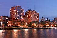 Superior Ink Condominiums, Robert A. M. Stern, Hudson River Park, West Street between Bethune and West 12th Streets, Greenwich Village, Manhattan, New York City, New York, USA