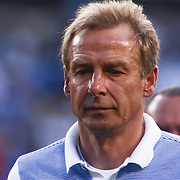 United States Manager JURGEN KLINSMANN leaves the field after the first half of a Copa America Centenario Group A match between the United States and Paraguay Saturday, June. 11, 2016 at Lincoln Financial Field in Philadelphia, PA.