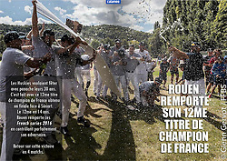 Huskies Team Champagne celebration double page spread, Huskies Mag, 2016