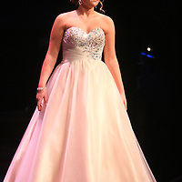 Haley Warner competes in the evening gown portion during the 66th North Carolina Azalea Festival Scholarship Pageant at Saturday March 8, 2014 at Kenan Auditorium in Wilmington, N.C. (Jason A. Frizzelle)