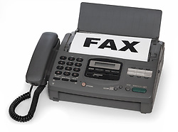 fax machine isolated on white background