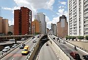 Highway in downtown São Paulo. Brazil, 2008
