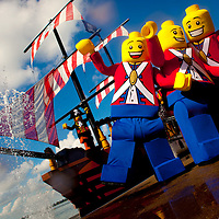 POLK COUNTY, FL - September 28, 2011 -- Legoland® Florida teases pirate-themed Water-Ski & Stunt Show and LEGO® City at LEGOLAND® Florida, Central Florida's newest theme park on Tuesday, September 28, 2011.  Opening October 15, 2011 just outside Orlando, LEGOLAND® Florida will provide interactive entertainment for families with children ages 2-12 . (PHOTO/LEGOLAND Florida, Merlin Entertainments Group, Chip Litherland).