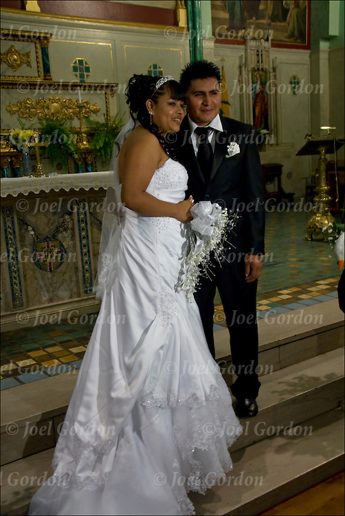 Mexican American Bride And Groom