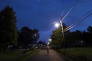 Logan Serigne, 4, plays near his home in Poydras, LA on July  6th, 2010.