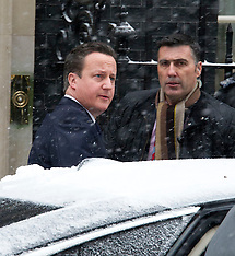 JAN 18 2013 Leaving Dowing Street - Prime Minister