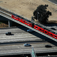 Aerial view of  San Diego Mass Transit System
