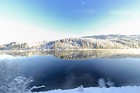 Winter View from the Oslo to Bergen Train. Image taken with a Nikon D2xs and 10.5 mm f/2.8 fisheye lens (ISO 100, 10.5 mm, f/4.8, 1/90 sec).