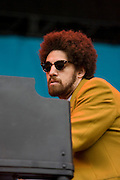 Sunday, August 3, 2008; Gnarls Barkley performs at Lollapalooza 2008.<br /> Photo by Bryan Rinnert