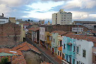 view over Calendaria, Old Town, Bogota, Colombia