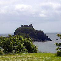 Europe, Great Britain, United Kingdom, Scotland, Islay. Castle ruins at Laphroaig.